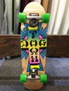 DOGTOWN SKATEBOARDS MINI NEON CROSS LOGO COLOR COMPLETE